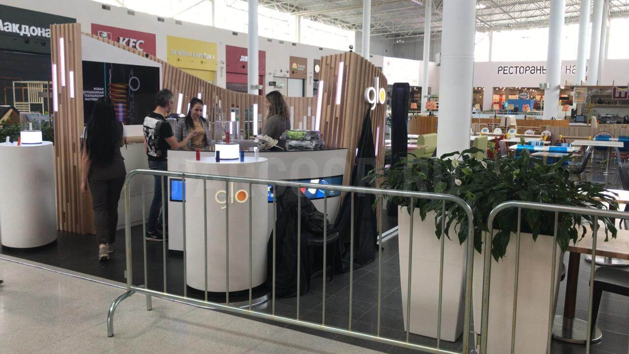 Островок бренда GLO в ТРЦ МЕГА Нижний Новгород