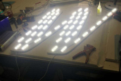 Новые объёмные световые буквы для вывески BELWEST в Кургане