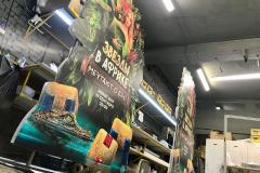 Рекламные конструкции для проекта Звезды в Африке с Ольгой Бузовой