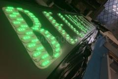 Вывеска со световыми буквами