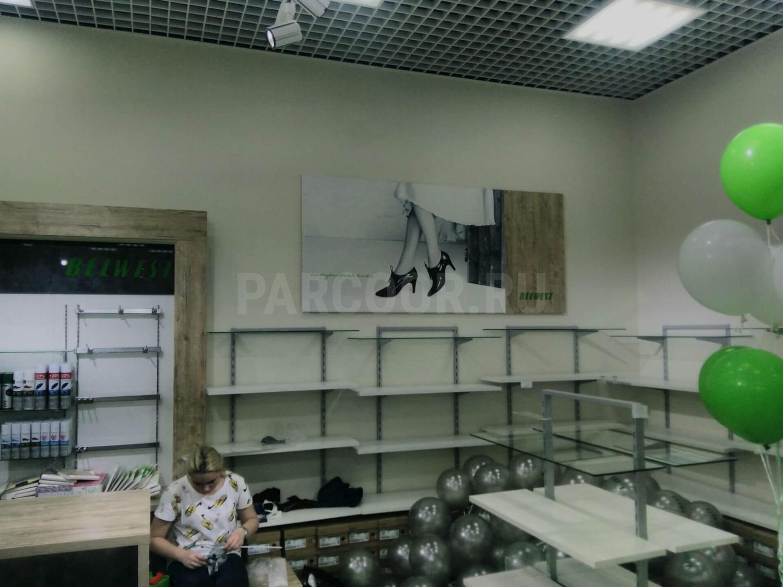 Торговое оборудование в магазине BELWEST в ТЦ Алмаз в Челябинске