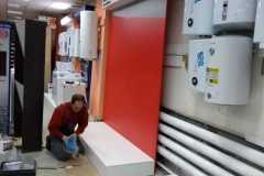 Смонтирована бренд-стена для продукции марки Protherm