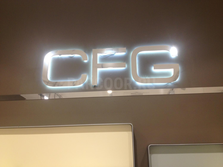Буквы с контражурной подсветкой GFC