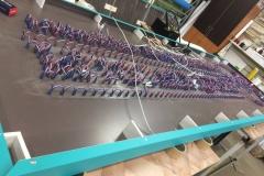 Во второй вывеске реализована подсветка RGB светодиодными пикселями в соответствии с фирменными цветами центра