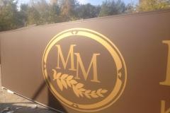 Вывеска со световой лицевой панелью из сотового поликарбоната Полтинник в г. Миасс