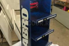 Стойка из ЛДСП для продукции бренда ABRO