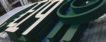Объемные несветовые буквы для «Партнер-Инвест» (Нижневартовск)