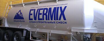 Брендирование транспорта торговой марки EVERMIX