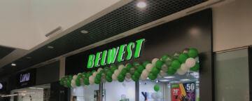 Комплексное оформление магазина BELWEST в ТЦ «Алмаз»