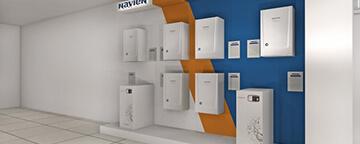 Имиджевая лого-стена для бренда Navien